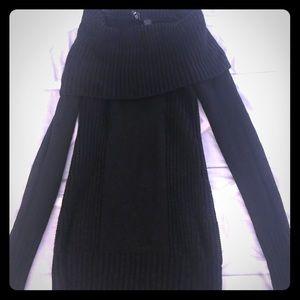 Sweaters - Big collar black sweater- size 2